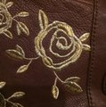 Anthropologie Bag Embroidered Brown/Gold Leather Tote Anthropologie Bag Embroidered Brown/Gold Leather Tote Image 3