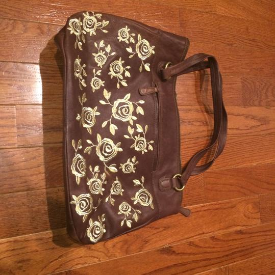 Anthropologie Tote in Brown/Gold Image 1