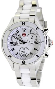 Michele Tahitian White Ceramic and Stainless Steel Non-Diamond Watc
