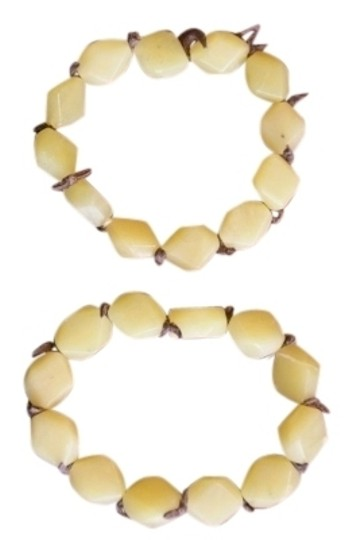 Banana Republic Banana Republic bracelets - stones seperated by leather strips