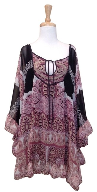 Free People short dress Black, maroon, white on Tradesy Image 0