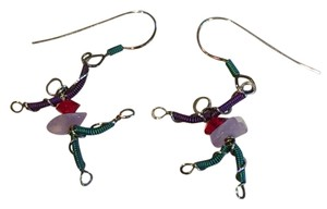 Other Artisan Niobium/Silver, Crystal Whimsical Dancer Earrings- One-Of-A-Kind