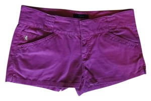 Express Pink Hot Pink Magenta Flap Pockets Summer Mini/Short Shorts Fuschia