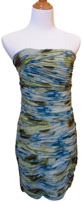 Preload https://img-static.tradesy.com/item/1131426/catherine-malandrino-green-blue-ruched-watercolor-knee-length-cocktail-dress-size-10-m-0-2-650-650.jpg