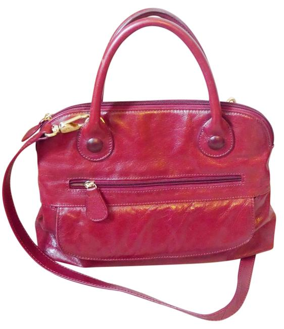 Clarks Crossbody Classic Handbag Red Leather Satchel Clarks Crossbody Classic Handbag Red Leather Satchel Image 1