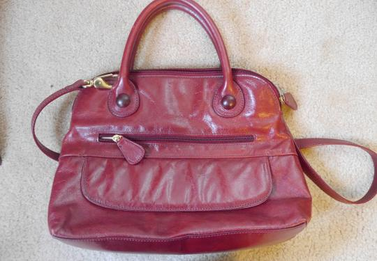 Clarks Classic Leather Handbag Crossbody Satchel in red Image 4