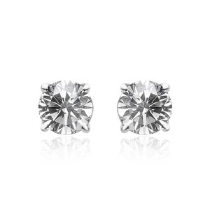 Avital & Co Jewelry 1.50ct Studs Solitaire Earrings 14k White Gold Round Cut Screwback