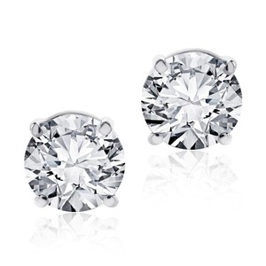 Avital & Co Jewelry 1.75 Carat Studs Solitaire Earrings 14kt White Gold Brilliant