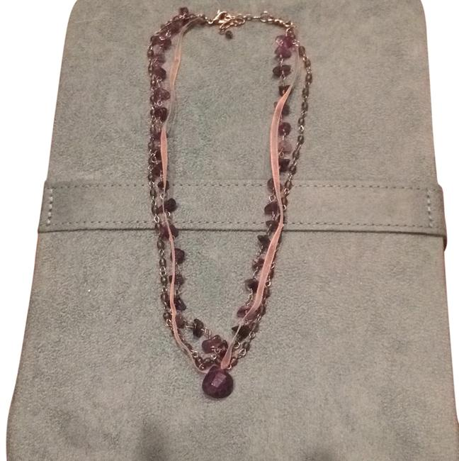 American Eagle Outfitters Purple Multi-stranded Necklace American Eagle Outfitters Purple Multi-stranded Necklace Image 1