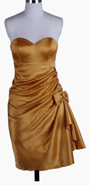 Preload https://img-static.tradesy.com/item/113151/gold-strapless-bunched-bow-satin-above-knee-cocktail-dress-size-26-plus-3x-0-0-650-650.jpg
