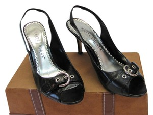 White House | Black Market Size 8.00 M Very Good Condiiton Black Sandals