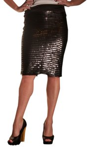 Whitney Eve Sequin Pencil Sexy Date Night Night Out Skirt Black