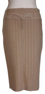 bebe Pencil Stretchy Skirt BEIGE