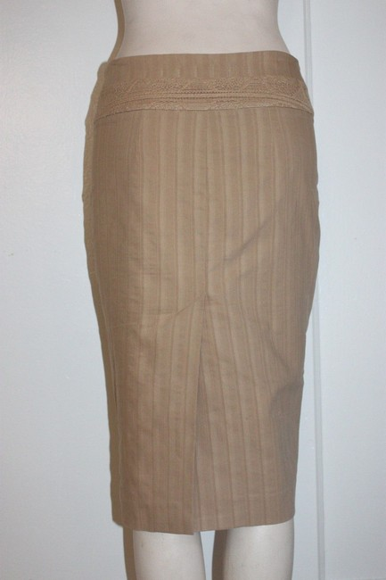 bebe Pencil Stretchy Skirt BEIGE Image 2