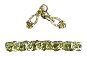 unknown Glass stone bracelet and earrings