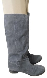 Nine West Suede High Flat Grey Boots