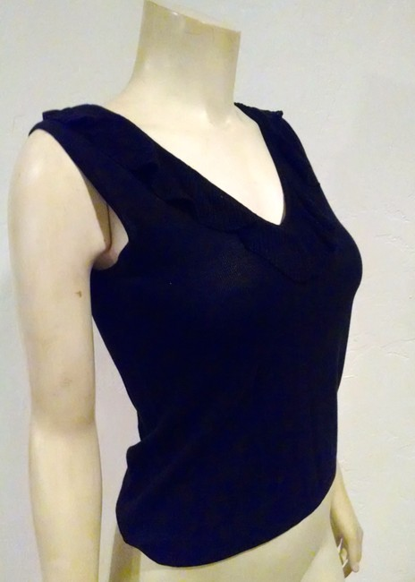 BCBGMAXAZRIA Sleeveless P734 Size Small Top black