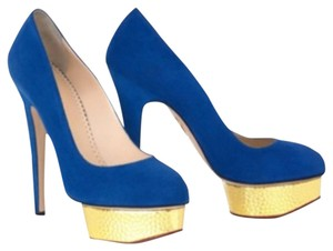 Charlotte Olympia Cobalt Platforms