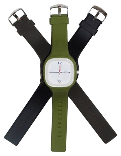 Preload https://item4.tradesy.com/images/green-black-brown-white-face-1-w3-silicone-interchangeable-bands-watch-1131613-0-0.jpg?width=440&height=440