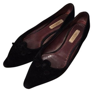 Marc Jacobs black velvet flats with bow Flats