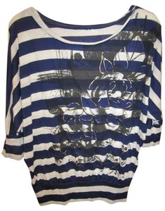 unknown T Blouse Offwhite T Shirt Navy
