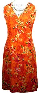 Tommy Bahama short dress Multi Floral: Tangerine on Tradesy