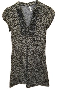 HeartSoul short dress Leopard Print Metallic V Neck on Tradesy