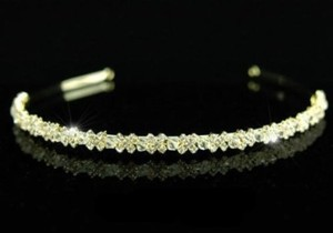 Swarovski Crystal Gold Wedding Bridal Headband