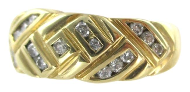 Gold 14k Yellow Solid with 17 Diamonds Ring Gold 14k Yellow Solid with 17 Diamonds Ring Image 1