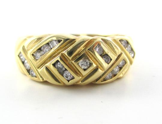 Other 14K Yellow Solid Gold RING with 17 Diamonds Ring