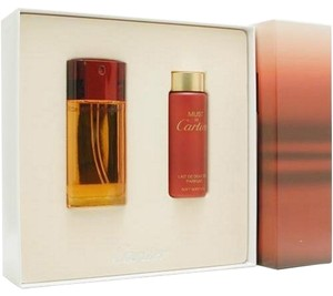 Cartier Cartier MUST DE CARTIER Womens Perfume GIFT SET 1.6 oz 50 ml Eau De Toilette Spray + 3.4 oz 100 ml Body Milk Lotion