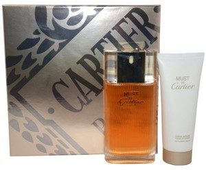 Cartier Cartier MUST DE CARTIER Womens Perfume GIFT SET 3.3 oz 100 ml Eau De Toilette Spray + 3.4 oz 100 ml Body Cream Lotion