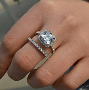 New Band 3ct Nscd Engagement Ring