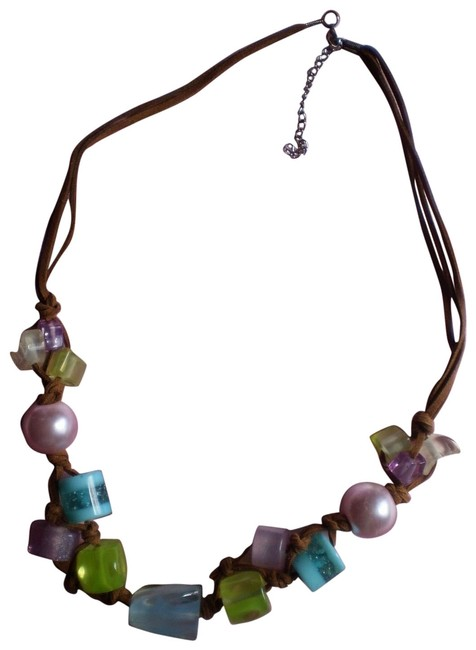 Multicolor New On Suede 3-strand Necklace Multicolor New On Suede 3-strand Necklace Image 1