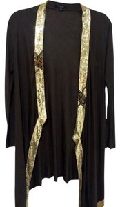T-Bags Los Angeles Fun Sweater Brown with Gold Sequin details Blazer