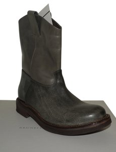 Brunello Cucinelli Leather Ankle Leather Gray Boots