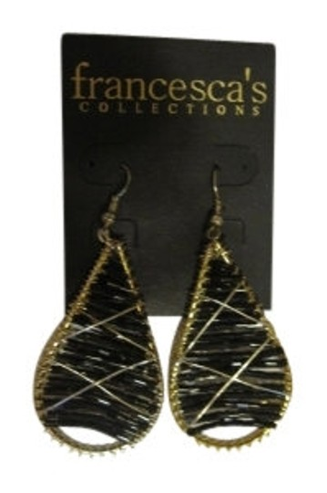 Preload https://item1.tradesy.com/images/francesca-s-gold-and-black-teardrop-earrings-11320-0-0.jpg?width=440&height=440