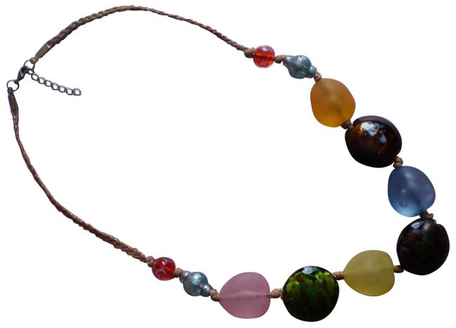 Multicolor New Lampworked Necklace Multicolor New Lampworked Necklace Image 1
