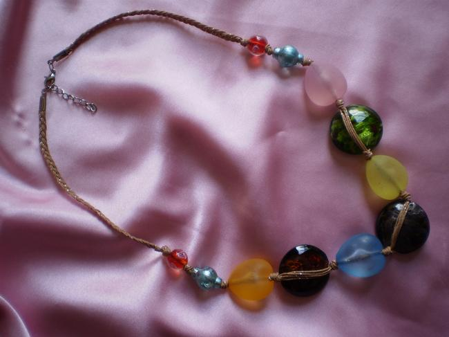 Multicolor New Lampworked Necklace Multicolor New Lampworked Necklace Image 2