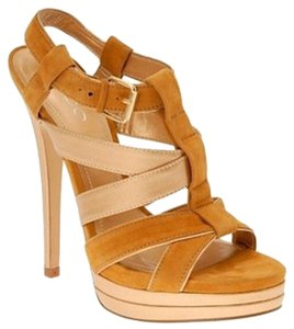 ALDO Suede Night Out Date Night Platform Gold Sandals