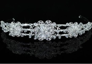 Dazzling Swarovski Crystal Floral Wedding Bridal Headband Tiara