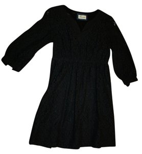 Emmelee short dress Black Lace 3/4 Length Sleeves Sheer on Tradesy