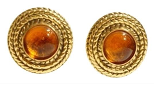 Preload https://img-static.tradesy.com/item/1132060/chanel-gold-tone-coiled-rope-and-amber-murano-glass-earrings-0-0-540-540.jpg