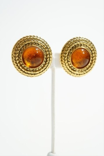 Chanel Chanel Gold Tone Coiled Rope & Amber Tone Murano Glass