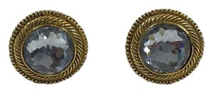 Chanel Chanel Gold/Crystal Earrings