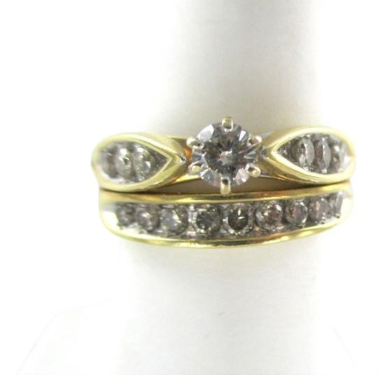 Other 14K Solid Yellow Solid Gold RING with 16 Diamonds wedding band