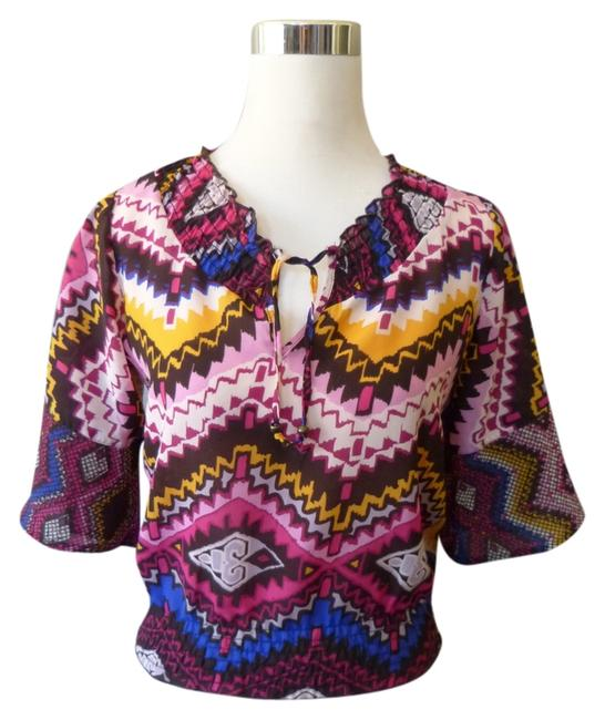 Preload https://item4.tradesy.com/images/o-neill-fuchsia-brown-small-blouse-size-4-s-1132093-0-0.jpg?width=400&height=650