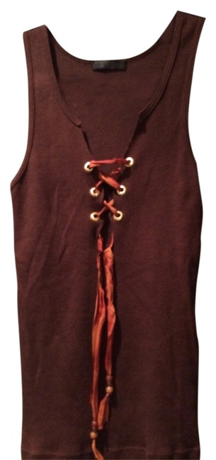 Preload https://img-static.tradesy.com/item/1132099/1-madison-brown-with-lace-up-front-tank-topcami-size-4-s-0-0-650-650.jpg