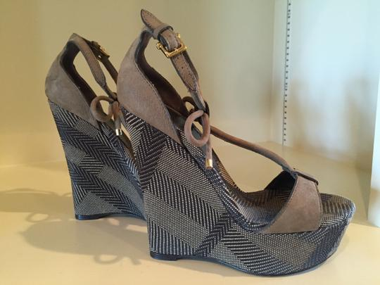 Burberry Beige and Black Platforms Image 1