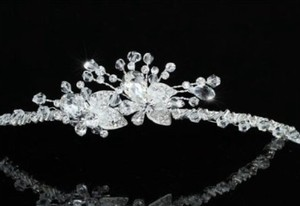 Sparkling Swarovski Crystal Floral Wedding Bridal Headband Tiara